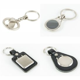 Keyrings with Clear Domes